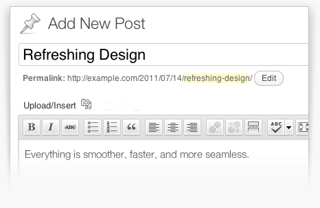 WordPress Post Editor screenshot